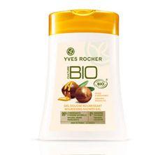 Voici comment Yves Rocher utilise les canaux stratégiques du social médial pour promouvoir sa gamme BIO !  Gel douche nourrissant à l'huile d'Argan Bio    Alternative au gel douche le petit marseillais Huile d'argan et Fleur d'oranger.    C'est également une huile de douche fondante, qui sent bon le propre. Un gel douche bio d'autant plus. Celui-ci est très bien.