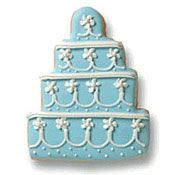 Lady Marmalaide loves this...Blue Wedding Cake Cookie