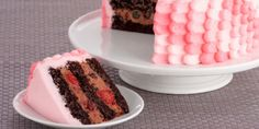 Chocolate Berry Cake with Italian Buttercream Recipes | Food Network Canada