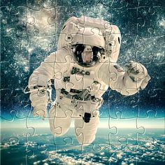 Watch the new #puzzle for today:Astronaut in outer space. Get it for #free on #Appstore & #GooglePlay and #enjoy one of most #relaxing #puzzle game for #iphone,#ipad and #Android. #gamedev #jigsaw #rompecabezas #developer #jigsawpuzzle #jigsaw #puzzle #puzzles #jigsaws #astronaut #outer #space #nasa