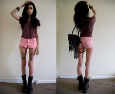 skinny, tattoo, and felice fawn image Fitness Workouts, Fitness Motivation, Goth Platform Shoes, Felice Fawn, Shoe Image, Skinny Girls, Thinspiration, Pink Shorts, Stay Fit