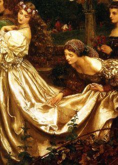 "Pre-Raphaelite Painting:  ""The Uninvited Guest,"" by Eleanor Fortescue-Brickdale. #Pre-Raphaelite."