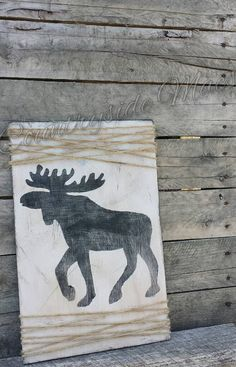 Check out this item in my Etsy shop https://www.etsy.com/listing/212952150/moose-silhouette-wooden-sign-with