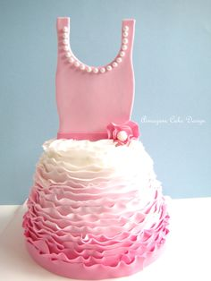Ballet Tutu♥ - I made this cake for a lil girl who was having a tutu theme birthday party