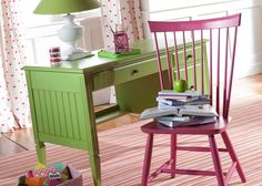 Jodi Desk is available in all the American Colors paints and an array of finishes.  Customize your home with Ethan Allen of Orland Park, IL.