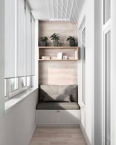 3 Modern Small Apartment Designs Under 50 Square Meters That Don't Sacrifice On Style [Includes Floor Plans] - apartment.club 3 Modern Small Apartment Designs Under 50 Square Meters That Don't Sacrifice On Style Small Balcony Decor, Small Balcony Design, Narrow Balcony, Modern Balcony, Modern Small Apartment Design, Modern House Design, Small Apartment Plans, Japanese Apartment, Apartment Balcony Decorating