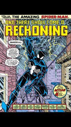 Amazing Spider-Man Erik Larsen splash page. Stan Lee Spiderman, Black Spiderman, Amazing Spiderman, Dc Comic Books, Comic Book Covers, Comic Art, Spiderman Pictures, Comic Book Panels, Japanese Folklore