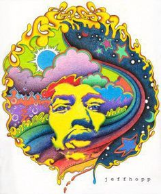Psychedelic baby rock poster for Jimmy Hendrix Rock Posters, Concert Posters, Music Posters, Art Pop, Psychedelic Art, Imagenes Pink Floyd, Etiquette Vintage, Jimi Hendrix Experience, Kunst Poster