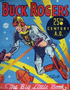 BUCK ROGERS  ste personaje fue creado en las páginas de un Magazine Pulp: Amazing Stories, por Phillip Francis Nowlan. Se hizo profundamente famoso por su contenido de ciencia ficción y por desarrollarse en una época donde se le daba mucha importancia a la carrera espacial. Se convirtió en un icono Pop, siendo comparado con el talento de los libros de Julio Verne, H. G. Wells o Edgar Rice Burroughs (creador de John Carter de Marte y Tarzán).