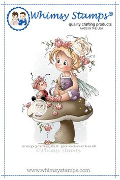 Whimsy Stamps - Poppy