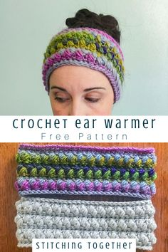 Eliza Ear Warmer Free Crochet Pattern You don't want to miss this puffy and cozy crochet ear warmer pattern! The headbands are perfect for winter and make gre. Crochet Headband Free, Crochet Adult Hat, Crochet Beanie, Hand Crochet, Free Crochet, Knit Headband, Baby Headbands, Ear Warmer Headband, Knit Cowl