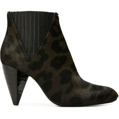 Lanvin leopard print booties ($1,375) ❤ liked on Polyvore featuring shoes, boots, ankle booties, grey, grey high heel boots, leather ankle booties, grey booties, leopard booties and leather booties