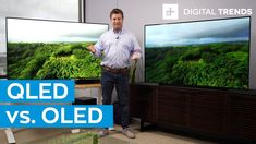 What a difference one letter makes. The terms OLED and QLED may look very similar but are two entirely different beasts. In our QLED vs. OLED battle, we comp. Lg Oled, Camera Slider, New Television, Light Emitting Diode, Video Lighting, Digital Trends, Science And Technology, Samsung, Lettering
