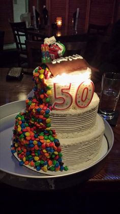 M&M Birthday Cake for Adult