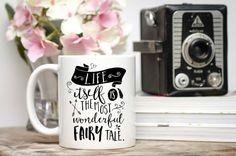 Fairy Tale Mug / Hans Christian Andersen / Typography Mug / 11 or 15 oz Mug / Free Gift Wrap Upon Request / Quote Mug