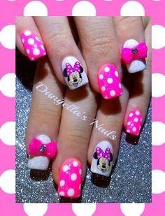 Pink Minnie Mouse by DanijellaDavis - Nail Art Gallery nailartgallery.nailsmag.com by Nails Magazine www.nailsmag.com #nailart