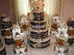 Diaper cakes by Saving By Design!
