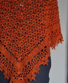 Midsummer Night's Shawl by Lisa Naskrent | malabrigo Lace in Glazed Carrot