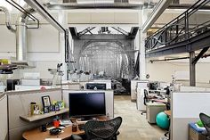 Implantlogyca Dental Office Interiors, Arlington, Virginia, by Antonio Sofan Architect Google Office, Cool Office Space, Office Workspace, Office Spaces, Work Spaces, Loft Office, Open Office, Workspace Design, Small Office