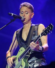 Musician and singer Martin Gore from Depeche Mode looked stage-ready accessorizing his rock n'roll look with the Swarovski Such bracelets
