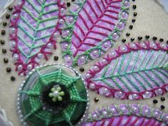 ella's craft creations: Tast week 39, knotted buttonhole stitch !