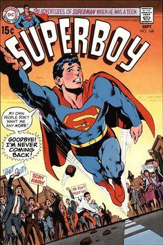 Superboy 168 Bronze Age DC Comics Neal Adams cover F Dc Comic Books, Comic Book Artists, Comic Book Covers, Comic Artist, Tikal, Dc Comics Superheroes, Marvel Comics, Geeks, Superman Family