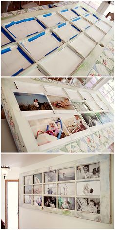 Picture Frames made out of an old door ❤