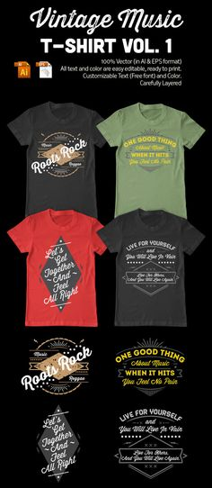 Vintage T-Shirt Design Template by TIAR PRAYOGA, via Behance