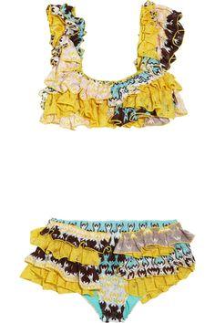 Missoni, ruffled knit bikini