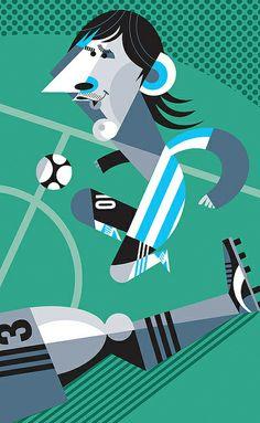 Messi fútbol argentina by Pablo Lobato
