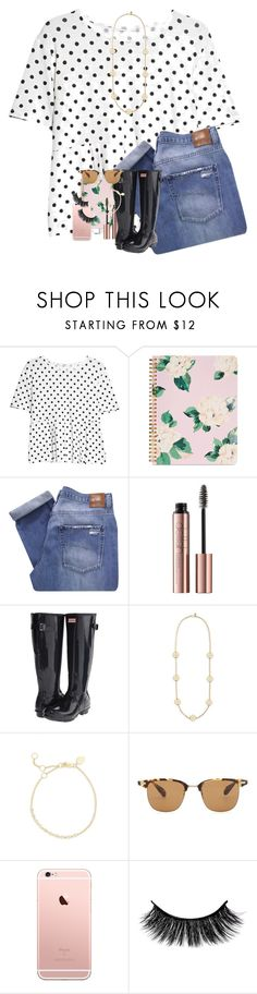 """It's homecoming week!! 😄"" by erinlmarkel ❤ liked on Polyvore featuring MANGO, ban.do, Nobody Denim, Hunter, Tory Burch, Meira T and Oliver Peoples"