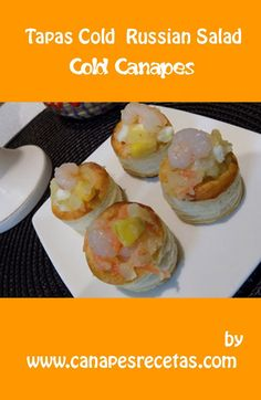 Tapas cold Russian Salad is Spanish recipe 100%. Still not you know prepare a rich Russian salad?. In this post step by step it shows a practical guide to make delicious cold tapas. #canapes #appetiziers #recipes #dinner