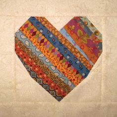 Free Quilting Pattern: Strippy Scrappy Heart