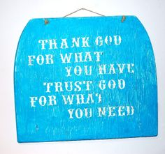 Thank God Quote Wooden Sign Ready to Ship by EarthCookieCreations, $10.00