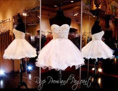 114CLAR024500 WHITE/NUDE HOMECOMING DRESS
