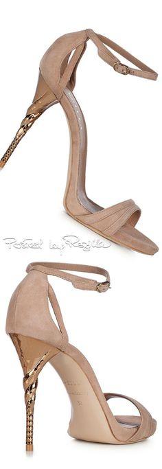 Le Silla ~ Suede Sandal Heels, Sand, 2015