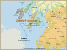 Whisky Regions of Scotland · Chart 22: Region Campbeltown (Malt Distilleries (working)) www.alba-collecti...