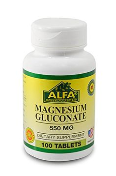 Magnesium Gluconate 550 Mg 100 Tablets By Alfa Vitamins Cardiovascular Health Muscle Weakness Dizziness *** You can find out more details at the link of the image.
