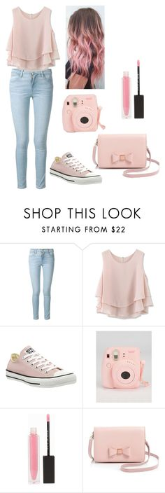 """Pastel Pink"" by iheartpastel ❤ liked on Polyvore featuring Frame Denim, Chicwish, Converse, MAKE UP STORE, Ted Baker, women's clothing, women, female, woman and misses"