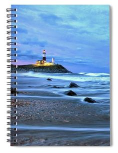 Montauk Lighthouse - Spiral Notebook