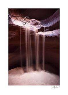 Sandfall, Antelope Canyon, AZ by myweh3 via flickr #Photography #Antelope_Valley #AZ #myweh3 #Sandfall