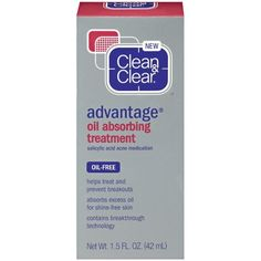 Clean & Clear Advantage Oil-Absorbing Treatment, 1.5 Ounce: Beauty - this stuff is great for oily skin, plus keeps breakouts at bay and helps exfoliate skin. I layer it under makeup and it doesn't cause flaking or makeup to crumble away. Great product
