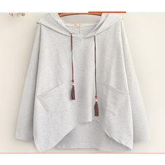 بلوفرات واسعه قصيرة ابيض وردي Fashion Sweaters Cardigan