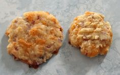 Bacon Cheddar Crackers   Ingredients 2 cups flour 1 tsp baking powder 1/2 tsp Maple Bacon Sea Salt (optional - available from Epicure Selections) 1/2 tsp cayenne pepper 1 cup butter 2 cups shredded, aged cheddar cheese 10 strips bacon, cooked, crumbled 1/4 cup milk