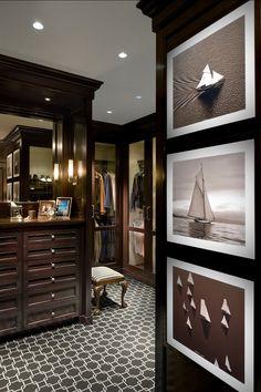 Closet. Beautiful walk-in Closet Design. #Closet