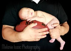 One of my all time favorites! Football newborn photography {Melanie Isaac Photography}