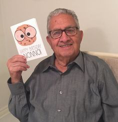 This weekend my Nonno (Grandpa) turned 89 and I made him a Custom Birthday Card with a smart cookie to match his glasses, and he's showing it off! Hahah #Twinning 🙈🍪👓💙 I love my Nonno! 😂 . Custom Cards available at alittleleafy.etsy.com 🎂 . . . . . #alittleleafy #nonno #happy #party #happybirthday #photooftheday #cake #celebration #family #birthdayparty #etsyshop #shopsmall #etsyseller #shopetsy #smallbusiness #etsystore #shophandmade #etsylove #handcrafted #etsygifts #love