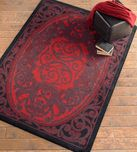 Wooded Pines Red Rug - 8 x 11