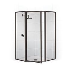"Coastal Industries Legend Series Framed 70"" x 29"" Neo Angle Shower Enclosure"