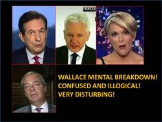 Chris Wallace Mental Breakdown Over Assange! Confused and Illogical! Ver...